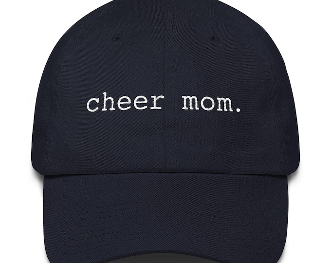 Cheer Mom - Embroidered Cotton Hat