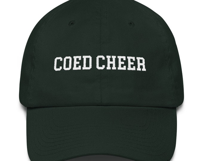 Coed Cheer Dad Hat for Yell Leaders & Cheer Guys