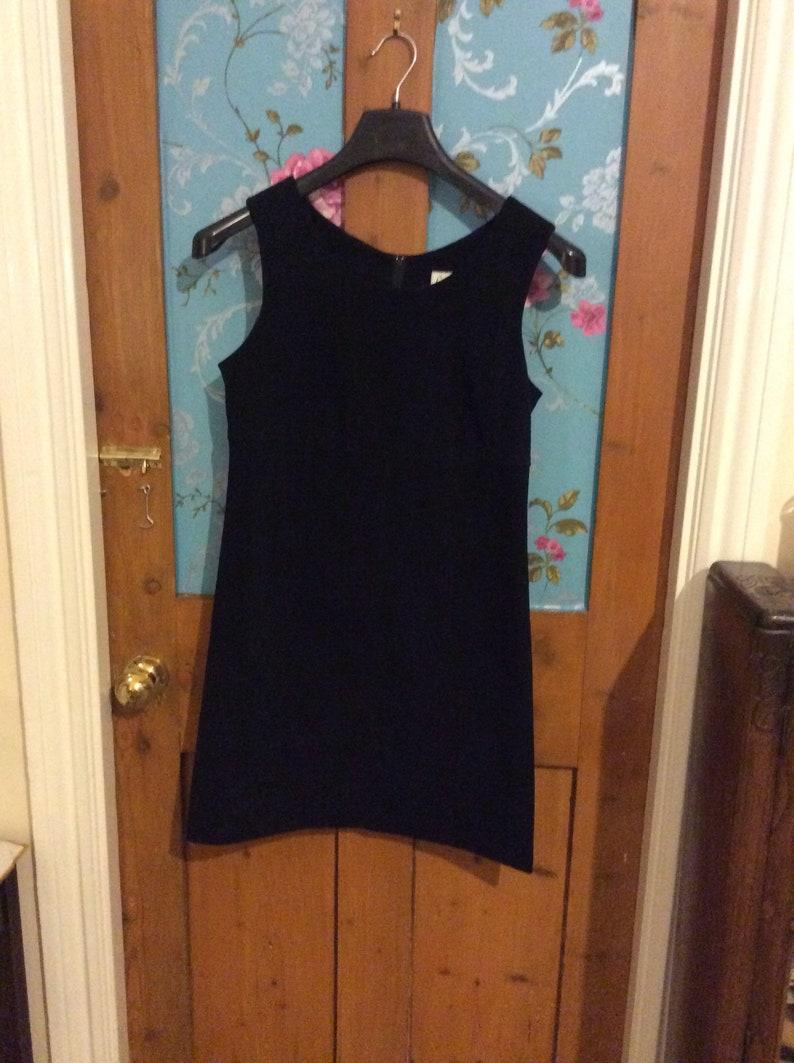 Vintage Casali Black Suede Mod Dress