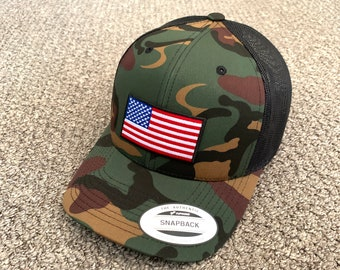 Custom Camo Mesh Trucker Hat Somali Flag Star Embroidery Cotton One Size