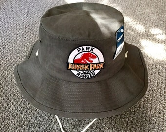 Jurassic Park Bucket Hat Park Ranger Hat 100% Cotton Fishing Hat  Handcrafted in the USA! Size L XL b1be8921d21