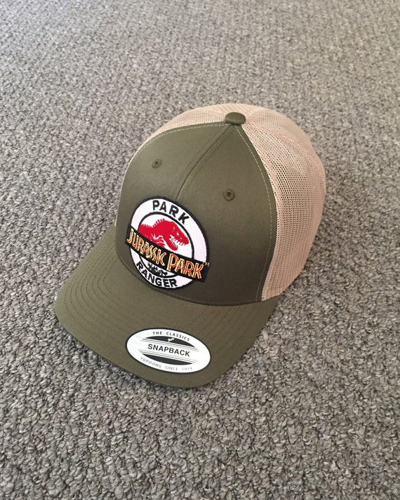 Jurassic Park Ranger Hat Trucker SnapBack Cap with Embroidered  3c41f7b17b8