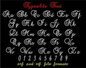 Typeable Rhinestone Font // Script Font // Rhinestone Download // Rhinestone Template // Rhinestone Design // Cursive // Alphabet