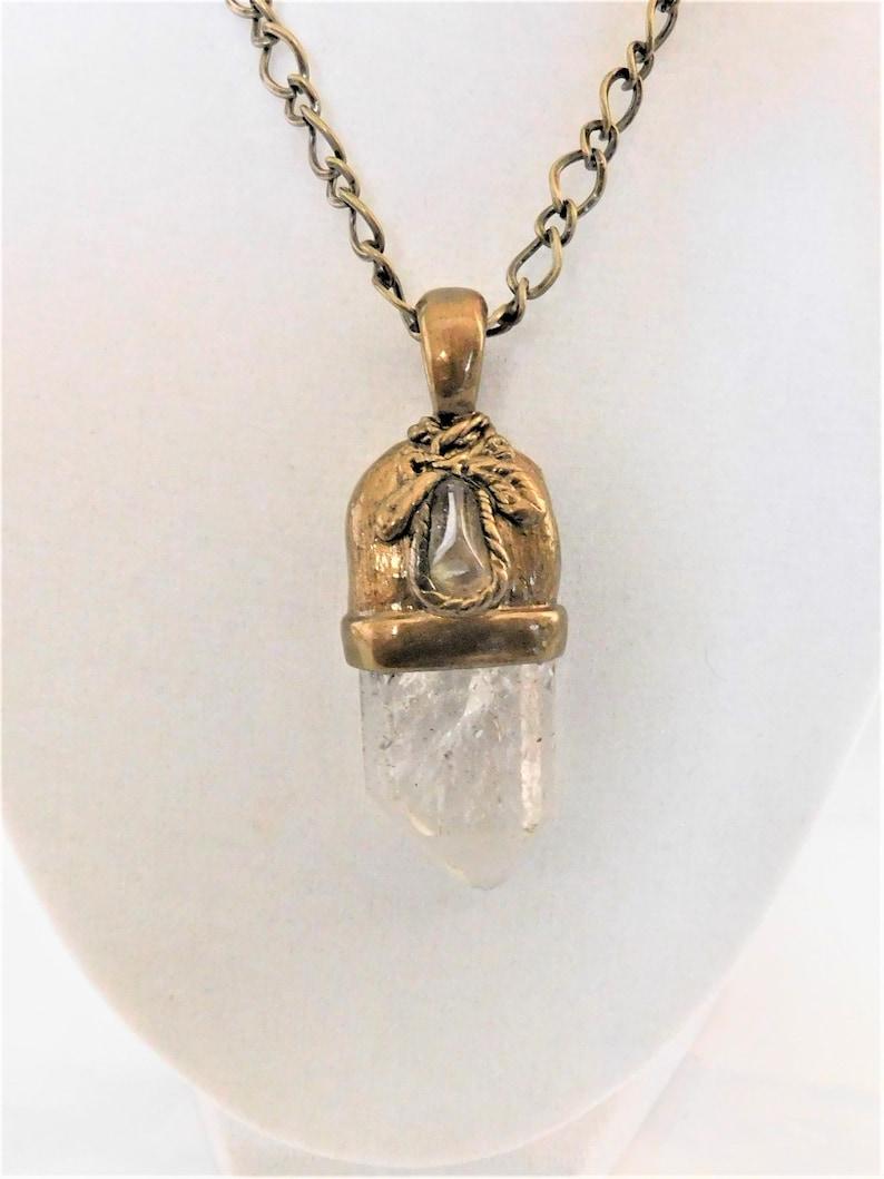Healing Necklace Quartz Amulet Crystal Necklace Clear Quartz Crystal Pendant Crystal Amulet Quartz Necklace Quartz Talisman