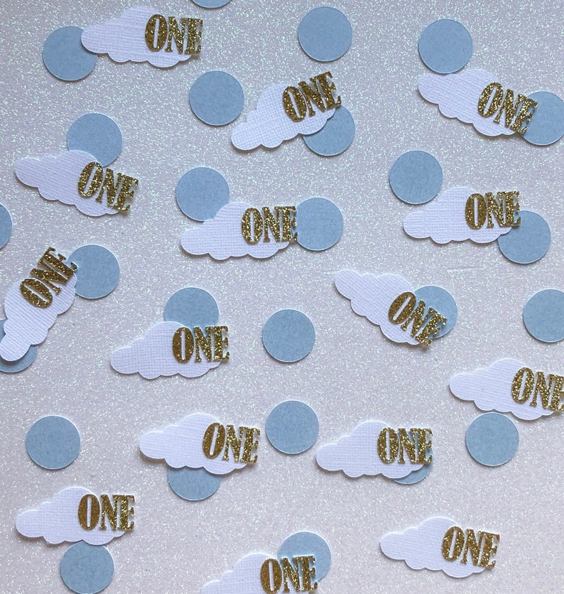 Cloud Confetti 1st Birthday Party Decorations Ideas