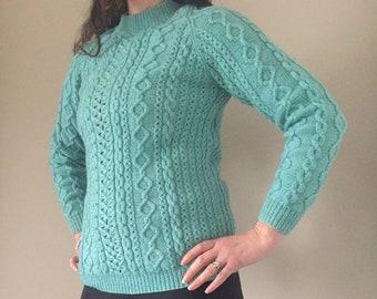 Mint green jumper | Etsy