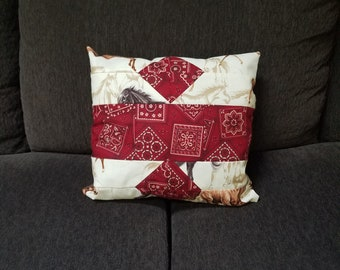 Custom made quilted pillow