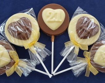 1ST HOLY COMMUNION GIRLS BELGIUM CHOCOLATE LOLLIPOPS//SWEETS PARTY BAG FILLERS
