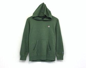 Champion Hoodie Sweatshirt Embroidery Small Logo Pullover   Streetwear    Sportswear   Fashion Style   Small Size 4d7c092dd4b7