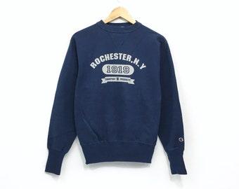 Champion Rochester Crewneck Sweatshirt Big Print Logo Pullover   Streetwear    Sportswear   Fashion Style   Medium Size   Urban Style 5d48553c366