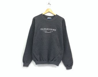 93445a2386fb0 Colorado Spring crewneck hanes sweatshirt jumper big print spell out logo  pullover   fashion style   vintage sweatshirt   large size