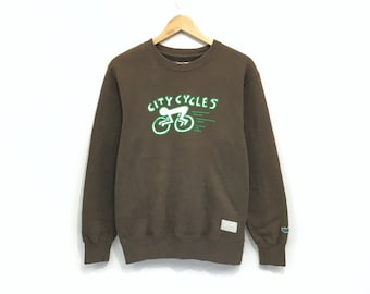 City Cycles Crewneck Keith Haring Sweatshirt Big Print Logo Pullover    Fashion Style   Urban Style   Pop Art Designer   Small Size ce5e50833