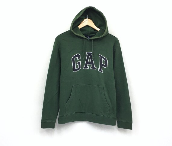 Gap hoodie sweatshirt embroidery big spell out pullover fashion style hip hop urban style medium size
