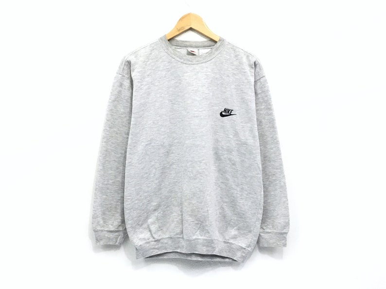 3e657a0e3482f Vintage Nike Crewneck Sweatshirt Embroidery Small Spell Out Logo Pullover /  Swag Sweatshirt / Hip Hop Style / Streetwear / Medium Size /