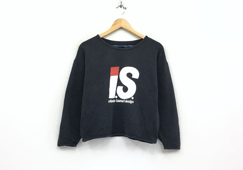 448d5b84a4ab Issey Miyake crewneck crop top sweatshirt jumper big print
