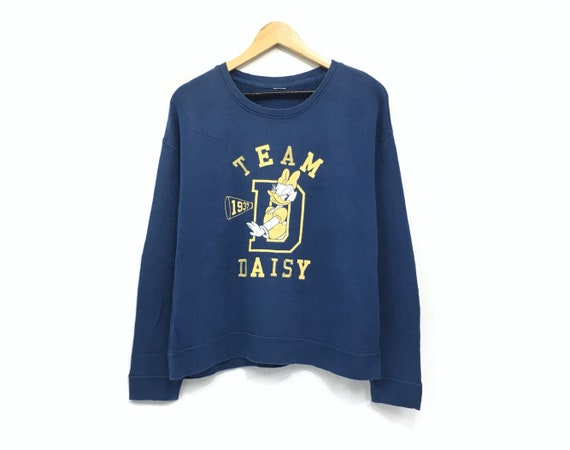 Daisy Duck Crewneck Sweatshirt Big Print Logo Pullover  Cartoon Fashion  Walt Disney  Small Size  Cartoon Characters
