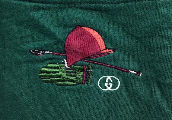 399ea4dbbacb9 Vintage 80s 90s Gucci Equestrian Polo Golf Reversible Multicolor Sweatshirt  Full Print Logo Pullover Polos accessories / luxury fashion /
