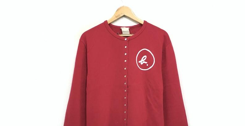 Agnes B Button Up Crewneck Sweatshirt Small Logo  Fashion Style  Designer  Streetwear  Sportswear  Small Size  French Designer