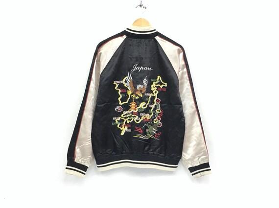 Vintage Sukajan embroidery eagle dragon logo japan
