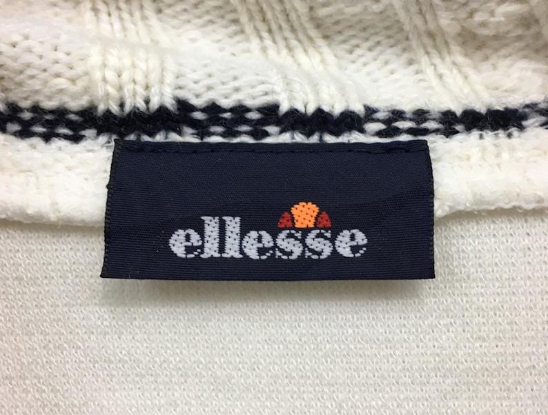 Ellesse Turtle Neck Sweatshirt Embroidery Small Spell Out Logo Pullover  Streetwear  Sportswear  Tennis Fashion  Small Size