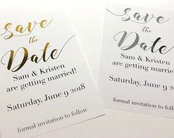 save the date picture save the date engagement invitation etsy