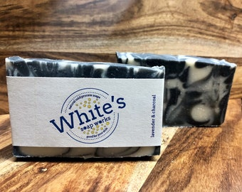 Lavender & Charcoal Soap - All Natural Essential Oil Soap