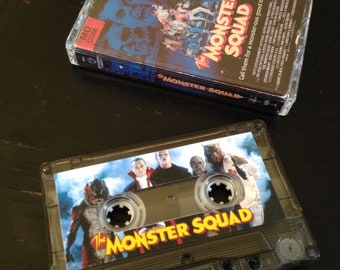 Monster Squad cassette tape with VHS art.