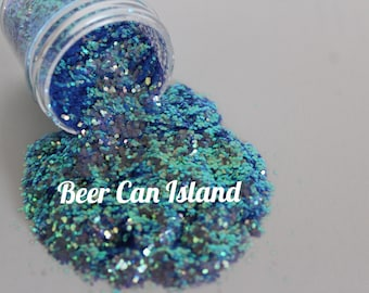 solvent resistant glitter- Beer Can Island