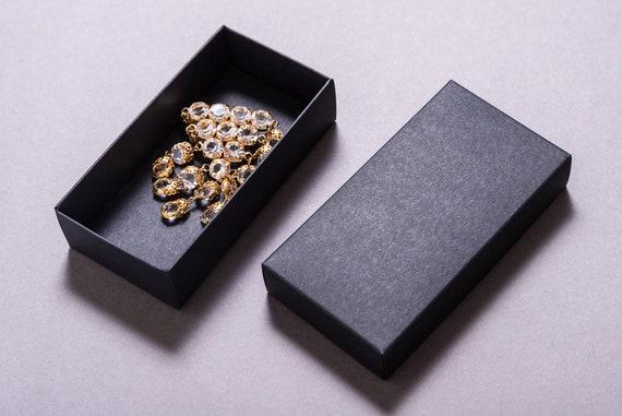 Lot Of 10 Pcs Of Carton Box With Cover Black Gift Box Invitation Box Jewelry Box
