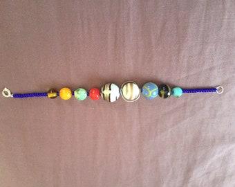 Solar System Native American Trade Bead Bracelet