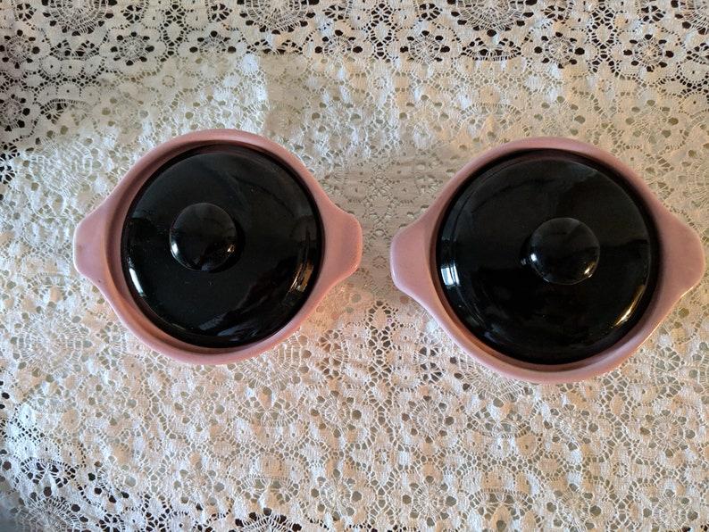 Bake Oven Pink and Black ramekins