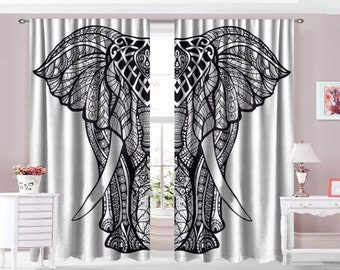 Indian Cotton Elephant Mandala Curtain Window Door Cover Hanging Drapes Beautiful Curtains Tapestry