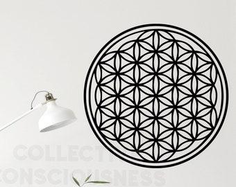 ▌ Wandkings ▐ Wall Tattoo Flower of Life-geometry CHOOSE SIZE /& COLOUR