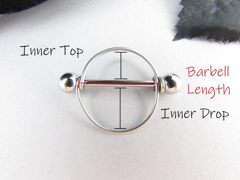 Men/'s Nipple Ring Nipple Jewelry 14mm 16mm 19mm Barbell 316L Stainless Steel 16g 14g Celtic Hematite Round Frame Nipple Sheild