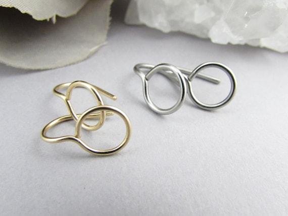 316l Surgical Stainless Steel Huggie Hoop Earrings 8mm 10mm 12mm
