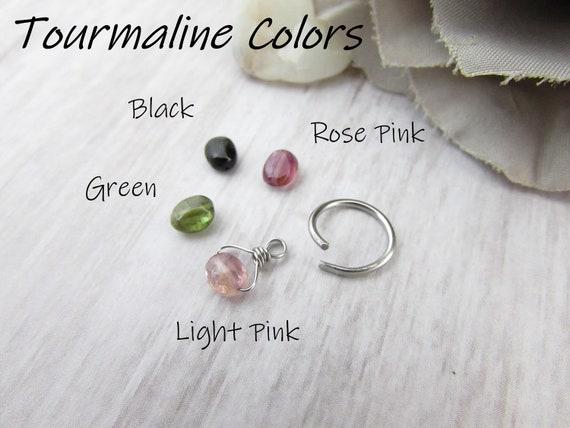 7//16 Inside Diameter Steel Navel Body Jewelry Glass Mini Hoop Green 10g