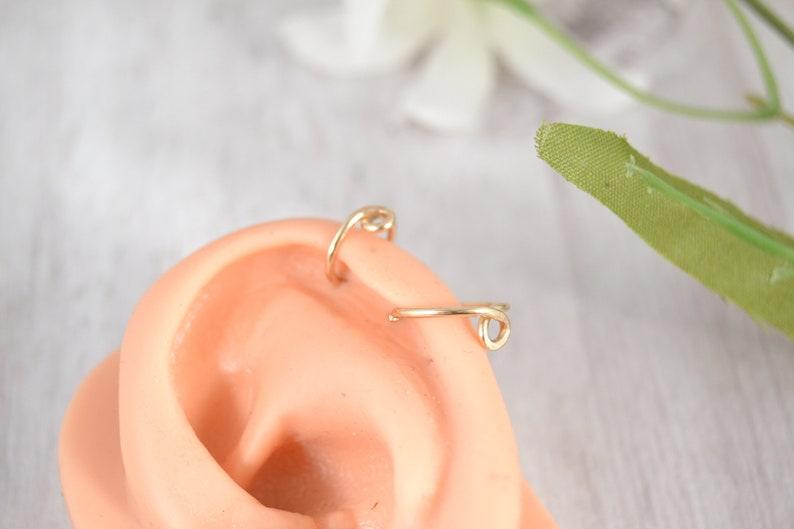 1st 2nd Lobe Earring 14g 16g 18g 20g Helix Hoop Seamless Ring Endless Hoop Loop Helix Earring Helix Jewelry Nature Jewelry