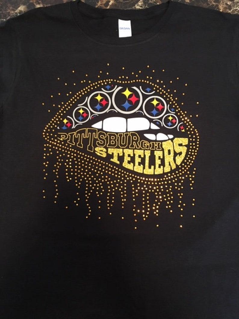 c921b6440 NFL Lips Custom T-Shirt Pittsburgh Steelers