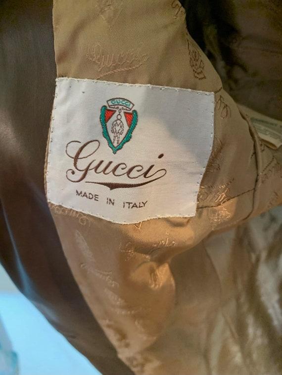 Vintage Gucci 70's Brown Suede Coat - image 5