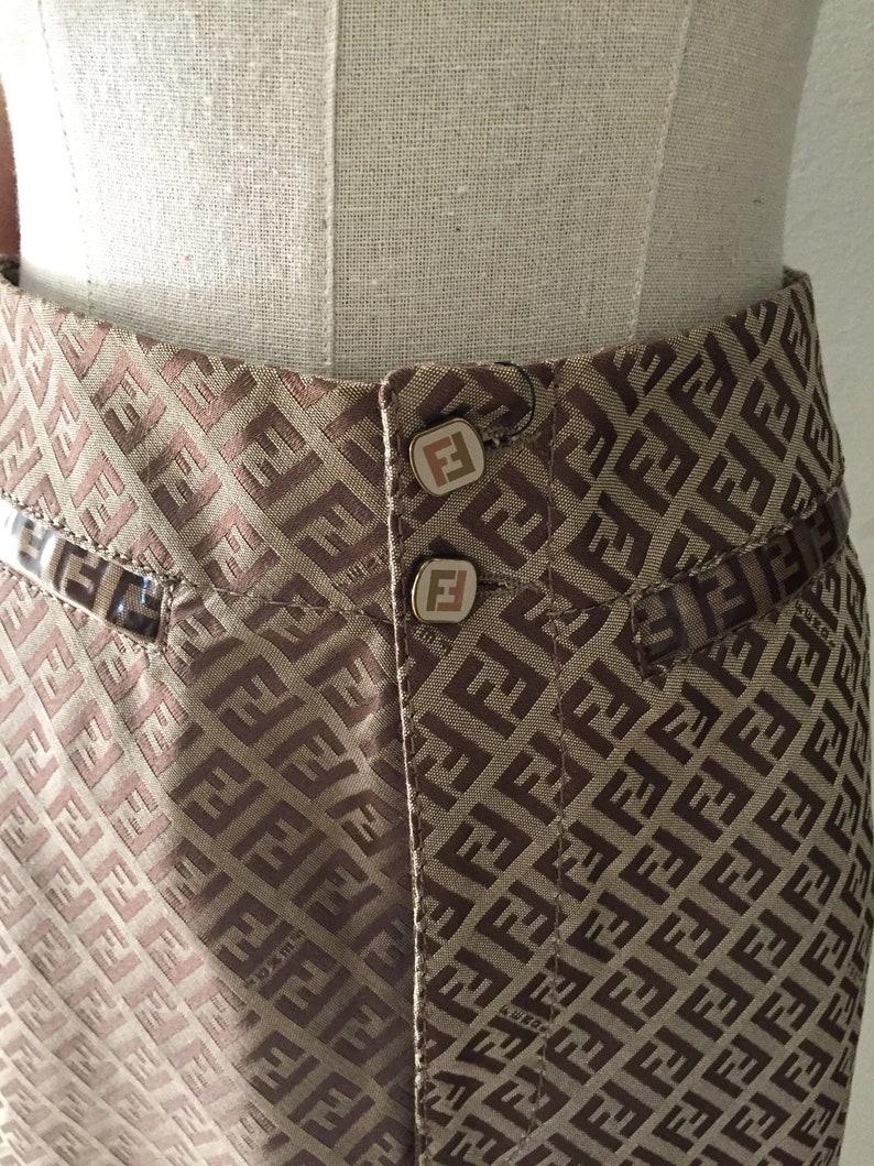 6ea144f58 Vintage FENDI FF Micro Zucca Print MONOGRAM Cotton Suit Jacket   Etsy