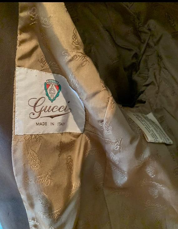 Vintage Gucci 70's Brown Suede Coat - image 7