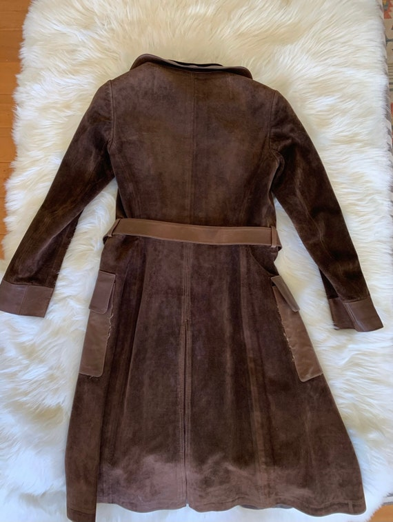 Vintage Gucci 70's Brown Suede Coat - image 3