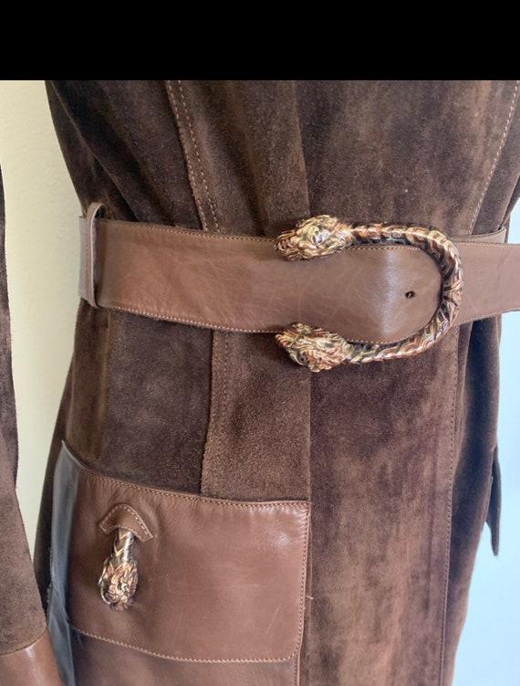 Vintage Gucci 70's Brown Suede Coat - image 4