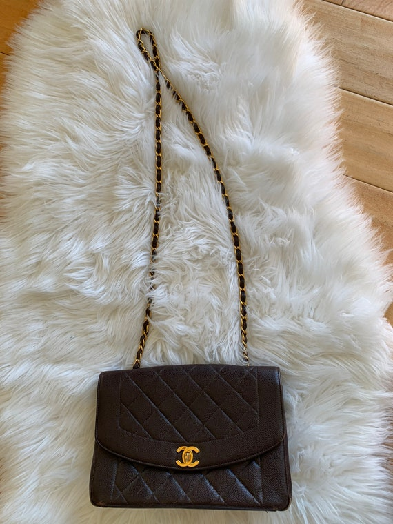 Vintage Chanel Diana Flap Bag Quilted Lambskin