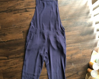 Navy Blue Chiffon Overalls/Jumpsuit by Dance & Marvel