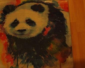 Rainbow Panda Pillow