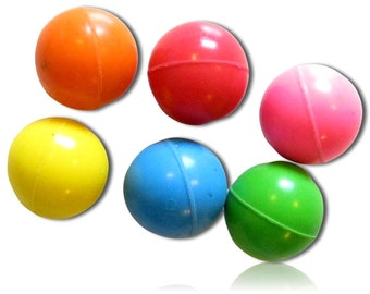 Blue {27.9mm} 5 Lot Pack Mid-Size Super High Bouncy Balls Red w Bar Game Billiard Pool Party Stripes Striped Solid Numbers Style Yellow