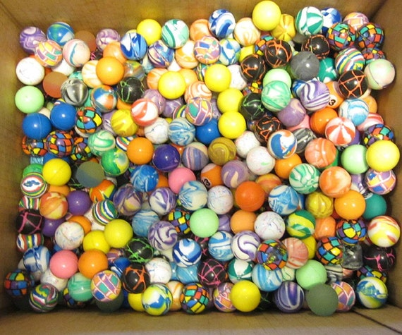 Multicolor {27mm} 288 Bulk Pack Mid-Size Super High Bouncy Balls Solid Stripes Striped Animal Zebra Water Color Patterns Patterned Style