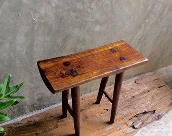 Rustic teakwood stool