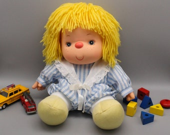 POUPEE Jesmar vintage 80s, yellow wool hair